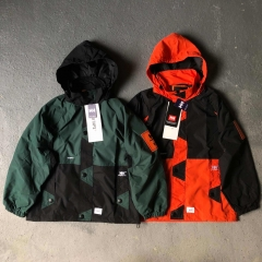 WTAPS BOW / JACKET.NYLON.TAFFETA.HELLY Hooded Jacket man  西边HH联名橘绿风衣